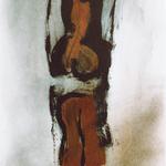 Sans titre, encre sur papier Arches, 57x76 cm, 1991