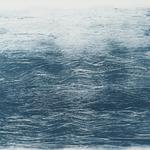 Série pinceau mer, monotype, papier BFK Rives, 43x43 cm, 2017