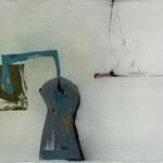 Juste posé, encre sur papier Arches, 76x57 cm, 2005