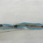 Horizon vagabond, encre sur papier Arches, 76x57 cm, 2008