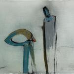 En attente, encre sur papier Arches, 76x57 cm, 2005