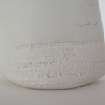 Blessures passagères, terre porcelaine, 11x11x10 cm, 2017