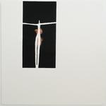 L'envol, gravure bois monotype, 40x40 cm, 2008