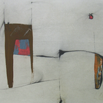 Chevaucher, encre sur papier Arches, 76x57 cm, 2007