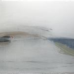 Voyage à l'autre bout du monde, gravure pointe sèche, 40x40 cm, 1/1, 2008