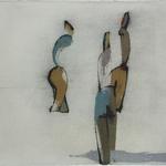 Conversation, encre sur papier Arches, 76x57 cm, 2005