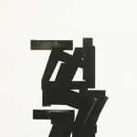 Empreinte typographique I, gravure monotype, 23X30 cm, 2013