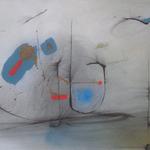 Un jeu d'équilibre, encre sur papier Arches, 76x57 cm, 2007