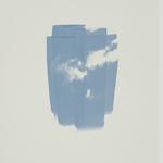 Pinceau nuage, série sérigraphie, monotype, 30x40 cm, 2017