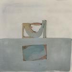 Reflet, encre sur papier Arches, 120x120 cm, 2000