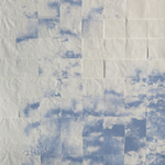 Passent les nuages, sérigraphie, monotype, papier Melitta, papier création, 80x120 cm, 2017