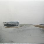 """Lagune, """"Des horizons natures recomposés"""", encre sur papier Arches, 76x57 cm, 2008"""