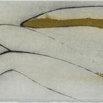 Boucle, encre sur papier Arches, 76x19 cm, 2005