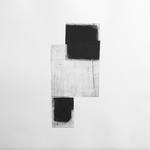 Une rencontre, gravure pointe sèche, 40x40 cm, 1/1, 2009