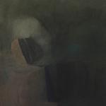 Pierre de lune, encre sur papier Arches, 50x64 cm, 1988