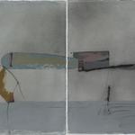 En accord, dytique, encre sur papier Arches, 114x57 cm, 2005