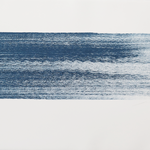 Série pinceau mer, monotype, papier BFK Rives, 75x56 cm, 2017