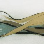 Paysage, encre sur papier Arches, 76x29 cm, 1999