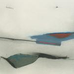 Paysage, encre sur papier Arches, 76x57 cm, 2007