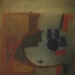 Composition, encre sur papier Arches, 50x64 cm, 1988