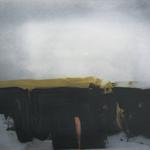 Encre paysage,  encre sur papier Arches, 76x57 cm, 1990