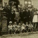 80. Geburtstag von Franz Seeberger (Mitte) Oktober 1942 in Pilgramsdorf  (Seeberger, Schlesiger, Griehl, Kuhn)