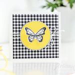 Karte mit einem Schmetterling