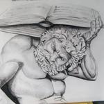 El peso del saber – Carboncillo papel Canson – 45X35