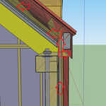 Beim Übergang von Wand zu Dach gibt es eine Öffnung, wo die Luft seitlich austreten kann; oder die Luft steigt weiter auf ins Dach, wo sie unter den Konter- und Dachlatten gut zirkulieren kann