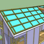 Auf den Schiftlatten werden Latten angebracht; diese dienen im nächsten Schritt als Unterlage zur Befestigung von Dach-Metallleisten