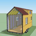 Querschnitt: Die Hülle des Tiny House ist so aufgebaut, dass die Luft unter der Fassade und dem Dach zirkulieren kann. Das beugt einem Hitze- und Feuchtigkeitsstau vor und macht das Tiny House haltbarer!