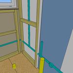 Damit die Leitungen aufputz verlegt werden können und trotzdem nicht sichtbar sind, werden solche Rahmen eingebaut. Die Leitungen können da hindurch und nach der Installation wird auf den Rahmen Sperrholz o.ä. befestigt