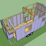 Die Gauben werden vervollständigt + stabilisiert durch eine spezielle Dachsparren-Verbindung beim Übergang vom flachen zum steilen Dach