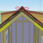 Im Dachfirst kann die Luft und die Feuchtigkeit schlussendlich raus