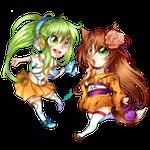 Manami und Figu-chan (Anime Messe Berlin Maskottchen)