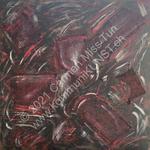Nr. 1913 - 50cm x 50cm x 2cm - Acryl & Sand auf Leinwand
