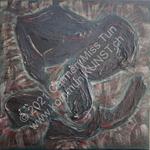Nr. 1915 - 50cm x 50cm x 2cm - Acryl auf Leinwand