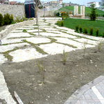 Pavimentazione a fughe inverdite per giardino privato