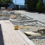 Cantiere a Potenza per sistemazione area esterna di abitazione privata