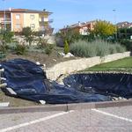 Lavori iniziali per realizzazione di un laghetto in giardino privato  -Oppido Lucano