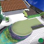 Idea di massima per giardino privato con cromatismi