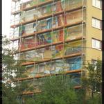 Die Fassade, in Arbeit