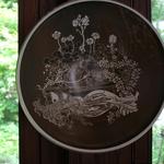 """""""Daphne"""", Engobe-Sintertechnik mit Ritzdekor. Im Besitz des Dithmarscher Landesmuseums."""