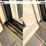 Vorher, Nacher, Meixner Fensterputzer, Badfenster