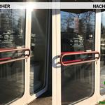 Vorher, Nacher, Meixner Fensterputzer, Ladengschäfft