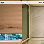 Vorher, Nacher, Meixner Fensterputzer, Rollo