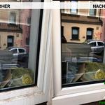 Vorher, Nacher, Meixner Fensterputzer, Glas und Rahmen Reinigung