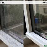 Vorher, Nacher, Meixner Fensterputzer Bild Blütenstaub