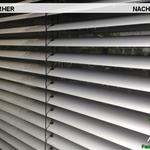 Vorher, Nacher, Meixner Fensterputzer, Jalousien-Reinigung