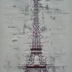 *Eiffelturm* Acryl, 80/120 cm